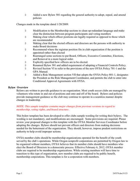 Bylaws Template Club Bylaws Template In Word And Pdf Formats Page 3 Of 22