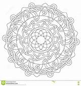 Rope Coloring Decoration Ornament Vector sketch template