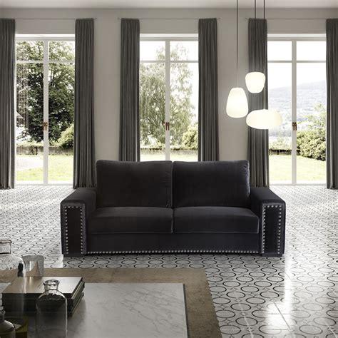 sofa veludo preto sof 225 3 lugares veludo luxuoso e sfa 4 iluti