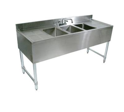 48 3 compartment sink john boos eub3s48sl 1ld 48 quot 3 compartment sink w 10 quot l x