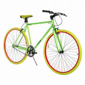 Fix D 700C Road Bike Neon Green 28