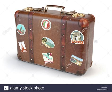 Vintage Suitcase Stickers Stock Photos And Vintage Suitcase