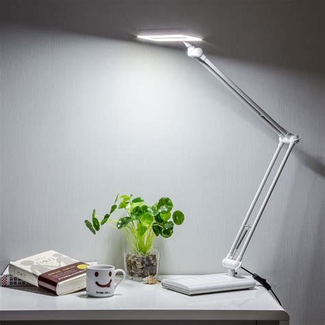 long swing arm desk l 8 watt two color long swing arm desk l flexible led