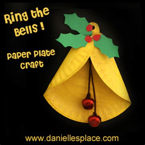 crafts for 121 | Paper plate Christmas Bell Bible craft sunday school