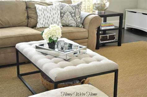 how to decorate an ottoman honey we 39 re home overstock renate coffee table ottoman
