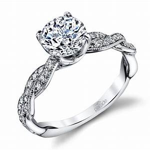 modern twist diamond engagement ring with lyria crown in With crown design wedding rings