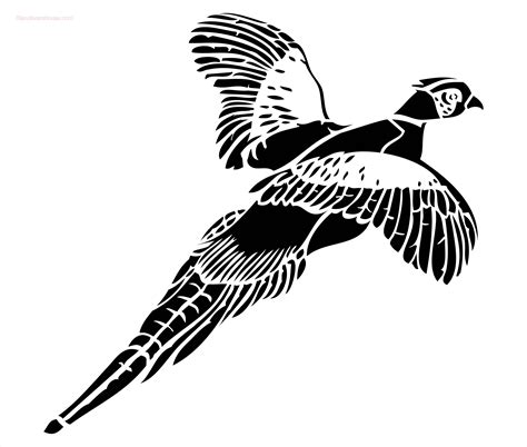 pheasant stencil to buy now
