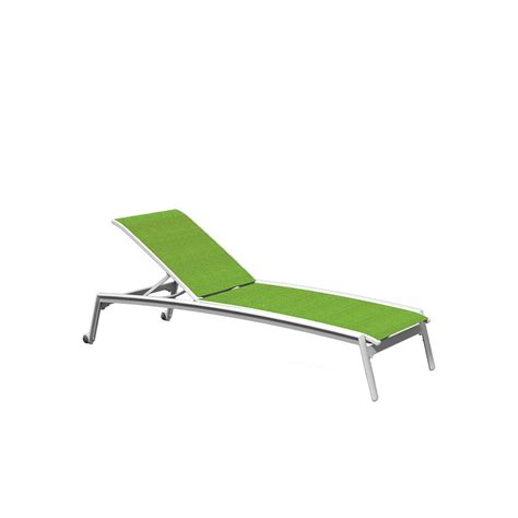 tropitone 461132w elance relaxed sling chaise lounge with