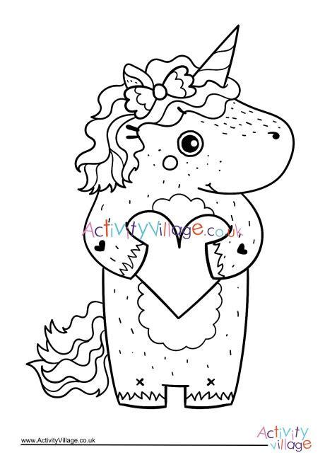 unicorn colouring page