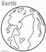 Planet Coloring Earth Printable sketch template