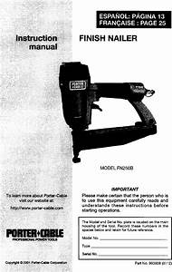 Porter Cable Fn250b User Manual Finish Nailer Manuals And
