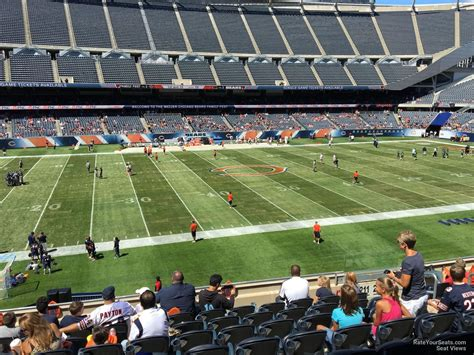 soldier field section  chicago bears rateyourseatscom
