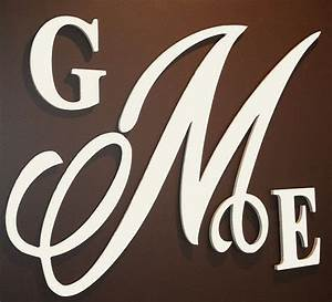 14 best images about dynamic designs on pinterest With big monogram letters for wall