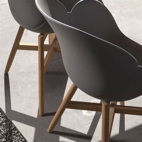 Vivagardea New York Dining Chair Teak + Kunststoff