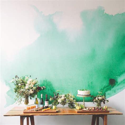 watercolor mural green watercolor wallpaper  walls