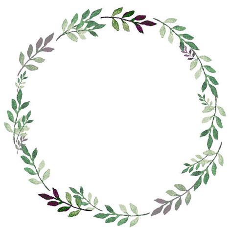 greenery clipart leafy wreath green purple watercolor wreath