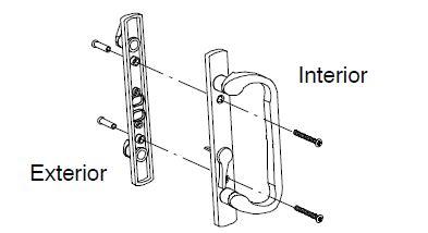 marvin trimline patio door parts bright brass  schlage key lock assembly marvin window