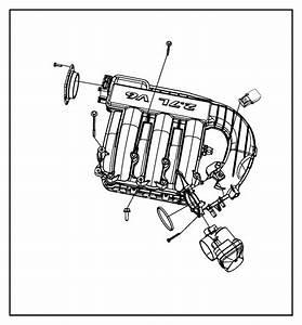 2008 Dodge Charger Plenum  Intake Manifold