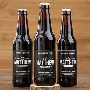 personalized groomsman beer bottle labels will you be my With groomsmen beer bottle labels