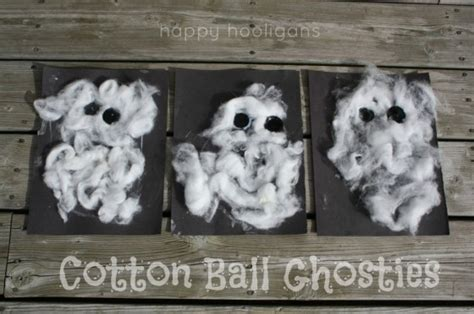 cotton ghost craft for toddlers happy hooligans 638 | unknown 12
