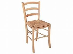 Chaise en hetre massif avec assise en paille paysanne for Meuble salle À manger avec chaise en paille