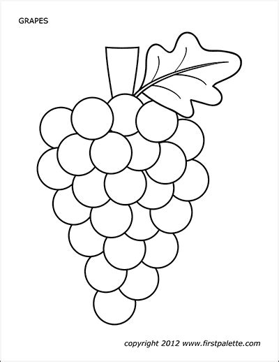 grapes  printable templates coloring pages firstpalettecom