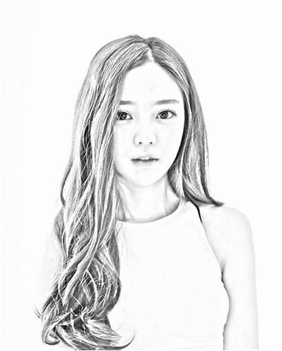 Wanita Hitam Kartun Gambar Putih Lukisan Cantik