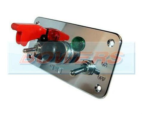 Flip-up Push Button Engine Start Ignition Switch Panel
