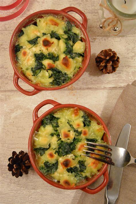 cuisiner des ravioles gratin de ravioles de romans aux épinards au fil du thym
