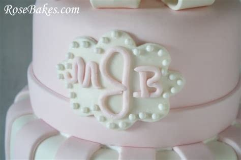 pink white baby shower cake carriage cookies