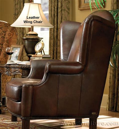 Wood And Leather Chair With Ottoman by Avebury Manor Wood Trim Leather And Fabric Club Chair With