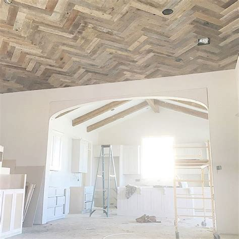 atscheffyconstructions photo herringbone ceiling trim