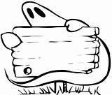Coloring Ghost Behind Hiding sketch template
