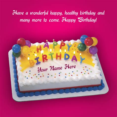 Birthday Card Photo by Beautiful Birthday Greeting Card With Cake Wishes