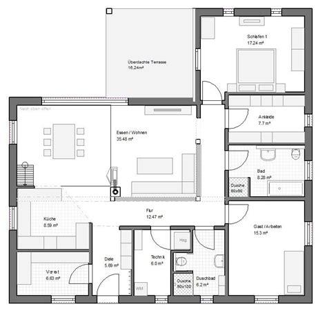 Grundrisse Für Bungalows by Winkelbungalow Gross 130qm Satteldach Haus Grundriss