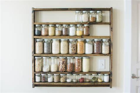 Mason Jar Pantry Shelf Organizer, Kitchen Storage Shelves
