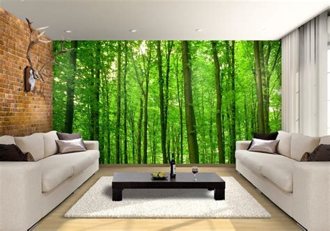 forest pathway custom wallpaper mural print  jw