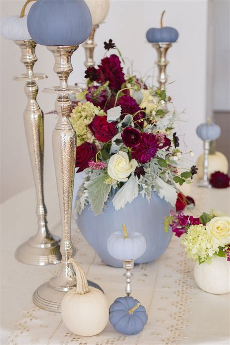 Dusty blue and cranberry fall decor 10 - Fab You Bliss