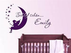 Wandtattoo Baby Mädchen : traumhaftes wandtattoo schlaf sch n fee mit wunschname von ~ Markanthonyermac.com Haus und Dekorationen