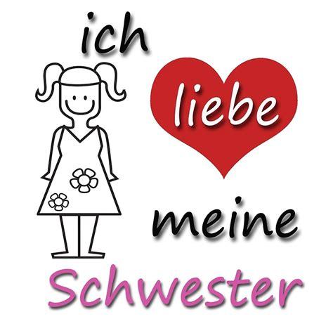 quot ich liebe meine schwester i my in german