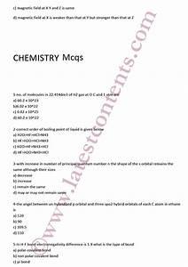 Mcat Entry Test Important Mcqs Physics Chemistry Biology