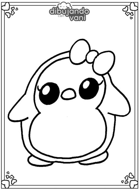 Dibujo de un pinguino para imprimir y colorear Dibujando