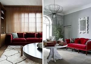 la fabrique a deco canape en velours choisir son style With tapis moderne avec petit canapé ancien