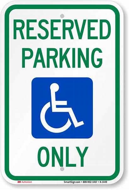 Parking Sign Reserved Handicapped Ada Symbol 1449