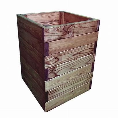 Square Wooden Tall Planter Garden Wood Extra