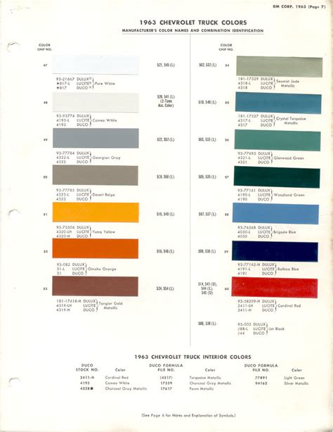 interior paint color codes 1962 chevy truck interior paint codes passionx