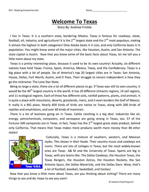 Texas History Worksheets For Kindergarten Texas Best Free Printable Worksheets