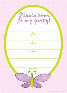 best birthday card invitation template with butterfly plus With postcard invites templates free