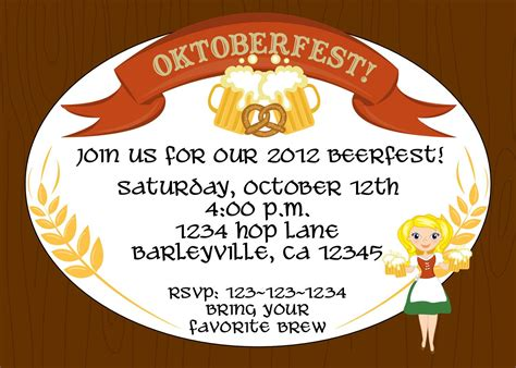 Creative Oktoberfest Beerfest Invitation Template Design