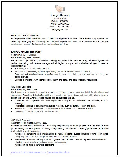 Sle Restaurant Manager Resume by Sle Template Of An Excellent Restaurant Manager Resume